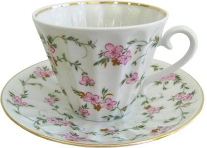 Чашка с блюдцем Цветущие веточки, ф. Лучистая ИФЗ 81.10312.00.1
