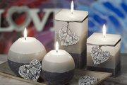 Свеча Мерси, блок 7x9см Bartek Candles 5901685026161