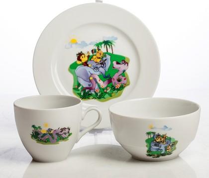 Набор детской посуды Porcelaine Czech Gold Hands Мультики, 38 попугаев, 3пр. DSRITA26/3