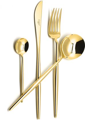 Набор столовых приборов Cutipol Moon Gold, 24 предмета, золото 9231