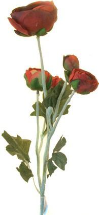 Цветок искусственный Atelier de Fleur Ранункулус красный 52см HAF0351-TA