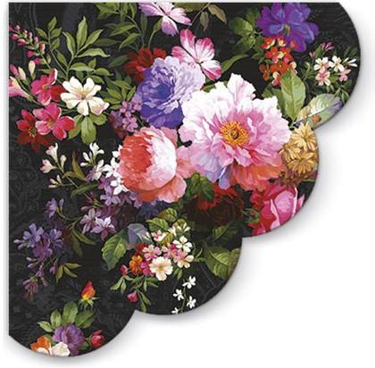 Салфетки круглые 3-х слойные Роза на бархате, d32, 12шт Paw SDR090200