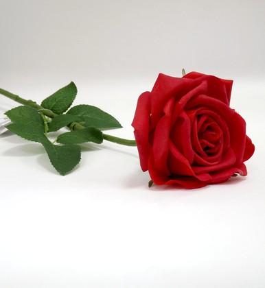 Цветок искуственный Роза Гран При красная 65см живое прикосновение Top Art Studio WAF0326-TA