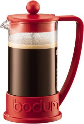 Кофейник с прессом, Brazil, 0,35л, красный, 10948-294