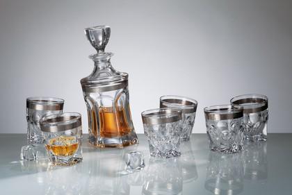 """Набор для виски """"Акапулько"""" графин 0,7л + 2 стакана 320мл Crystalite Bohemia 99999/9/432268/121"""