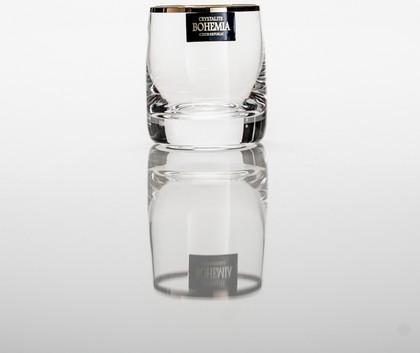 Стопки Идеал 60мл водка зол. полоска 6 шт Crystalite Bohemia 25015/60/20733K