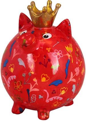 Копилка Свинья Pomme-Pidou Big Pig Betty XL, красная 148-00337D