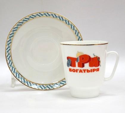 Чашка с блюдцем Три богатыря ф. Майская ИФЗ 81.24805.00.5