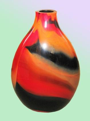 Ваза из цветного стекла Jozefina 55см 10-927-550-88B