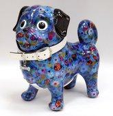 Копилка Собачка Мопс DAISY голубая Pomme-Pidou 148-00184/D