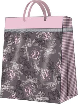 """Пакет подарочный """"Кружевные бантики"""" 26.5x33.5x13см Paw AGB023005"""