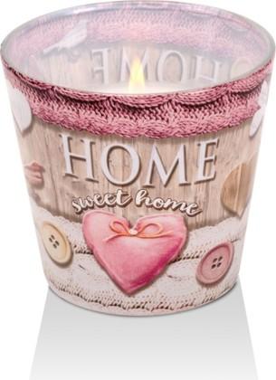 Свеча декоративная Bartek Candles Дом милый дом, стакан 5901685448208