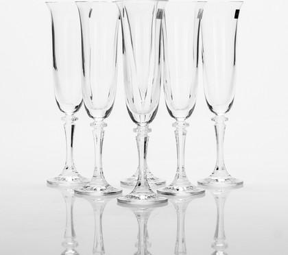 Фужеры для шампанского Клеопатра 175мл, 6 шт Crystalite Bohemia 1SC33/175