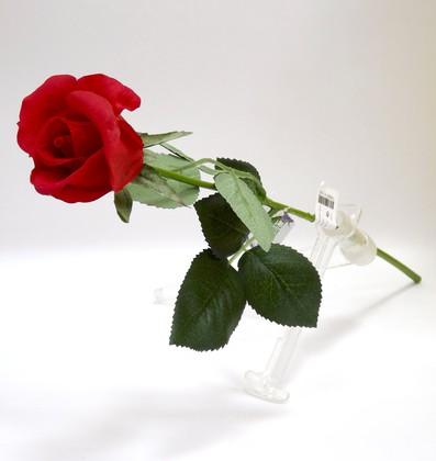 Цветок искусственный Atelier de Fleur Роза Алба красная 45см WAF1150-TA