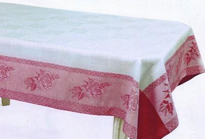 Скатерть Белорусский лён Мулине 150x150, розовая 12c518/150x150/808/85
