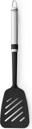 Лопатка кухонная Brabantia Profile с прорезями большая, матовая сталь, чёрный 363726