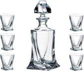 Набор для ликера Crystalite Bohemia Квадро, графин 500мл, 6 стаканов 55мл 99999/9/99A44/117