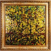 Картина стеклянная Top Art Studio Золотая осень 50x50см LG1227-TA