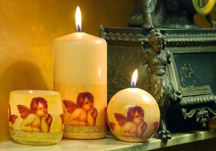 """Свеча """"Рафаэль"""" колонна 8х20cм Bartek Candles 5907602644364"""
