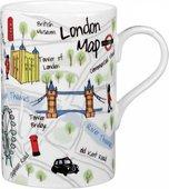 Кружка Карта Лондона, Седар, 350мл James Sadler JSLC00171