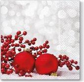 Салфетки для декупажа Paw Фенечки на снегу, 33x33см, 20шт. SDL081500