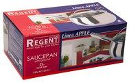 Ковш Regent Apple 2л, 16x9.5см, матовая полировка, стеклянная крышка 93-D-1