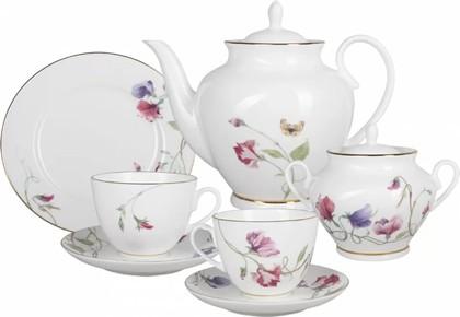 Чайный сервиз ИФЗ Весенняя-2, Цветущий горошек, 6 персон, 20 предметов 81.25575.00.1