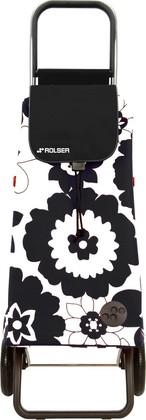 Сумка-тележка Rolser Flor, 2 колеса, складная, чёрно-белая PAC012blanco/negro