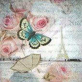 Салфетки Романтика в Париже, 33x33см, 20шт Paper+Design 200287