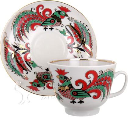 Чашка с блюдцем ИФЗ Подарочная, Два петуха 81.10642.00.1
