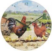 Часы настенные Lesser & Pavey Петушки и курочки d30см LP94176