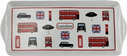 Поднос Лондон коллаж 39x17см Leonardo Collection LP92171