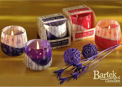 "Bartek Candles DREAM TIME Свеча ""Мечта"", стакан 80х75мм, артикул 5907602664522"