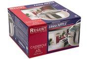 Кастрюля Regent Apple 6.7л, 24x13.5см матовая полировка, стеклянная крышка 93-D-4