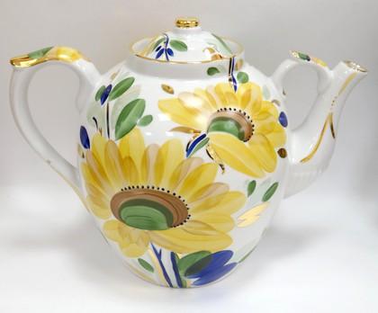 Чайник заварочный Дулёвский фарфор Русский, Летнее утро 4500мл ДС3261