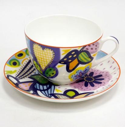 Чашка с блюдцем Букет для Татьяны Весенняя-2 ИФЗ 81.25985.00.1