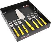 Набор вилок для торта и лопаточка EME Brio 7пр, жёлтый P11BR/17