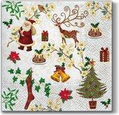 Салфетки Рождественские товары 33x33, 3-сл, 20шт Paw SDL097600