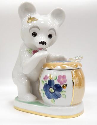 Скульптура Лакомка белый, Дулёвский фарфор Д03641