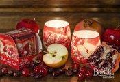 Свеча декоративная Bartek Candles Зимние Фрукты, стакан 8x7.5см 5901685000659