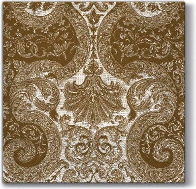 Салфетки Фея орнамент, золото 33x33, 3-сл, 20шт Paw SDL000109