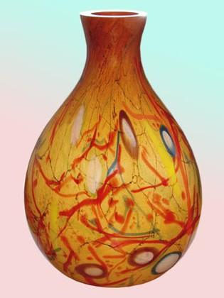Ваза из цветного стекла 55см Jozefina 10-927-550-T84