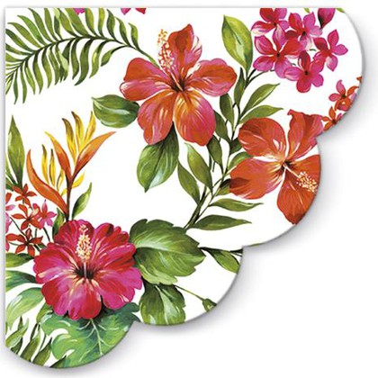 Салфетки круглые для декупажа Гавайские цветы, d32, 12шт Paw SDR090700