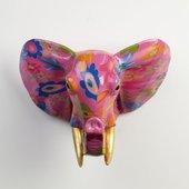 Фигура на стену Слон Джим пурпурный Pomme-Pidou 148-00232