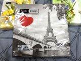 Салфетки для декупажа Париж, 33x33см, 3 слоя, 20шт Paper+Design 21819
