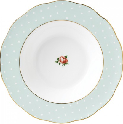 Тарелка суповая Полька Роуз, 24 см Royal Albert POLROS25813