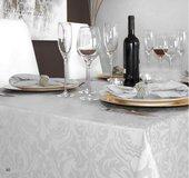 Скатерть Aitana Visconti, 160х300см, водоотталкивающая, белый VISC/160300/nata