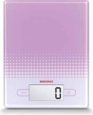 Весы кухонные электронные розовые 5кг/1гр Soehnle City Rose 66193