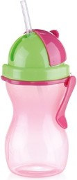 Детская бутылочка с трубочкой 300мл, розовый/зелёный Tescoma BAMBINI 668172.53