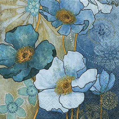 Салфетки для декупажа Гармония в голубом, 33x33см, 3 слоя, 20шт Paper+Design 21793
